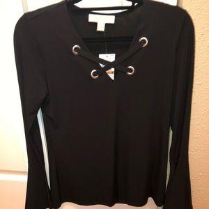Michael Kors black long sleeve shirt. Size small